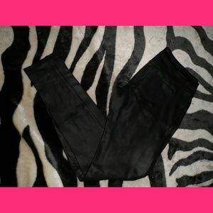 Black Skinny jeans  Fake Leather